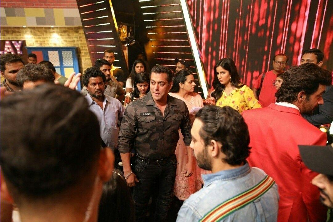 Salman Khan and Katrina Kaif during a programme