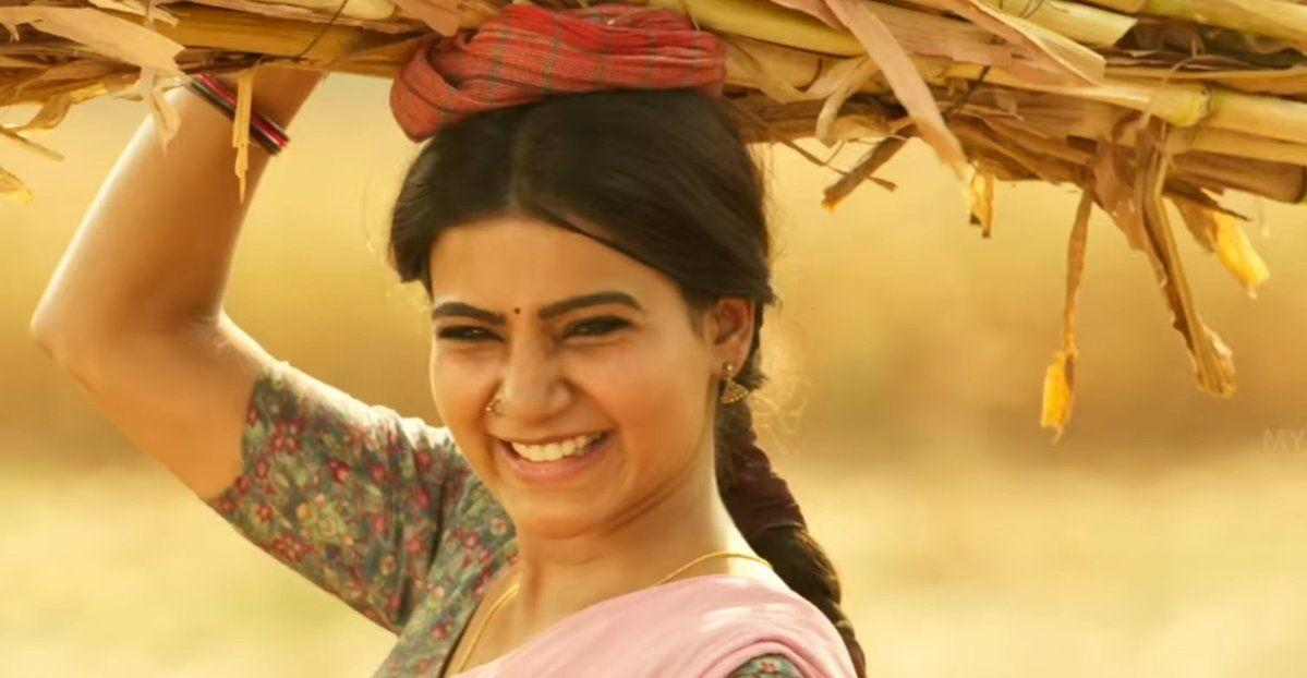 Samantha from the sets of Rangasthalam 1985 Movie