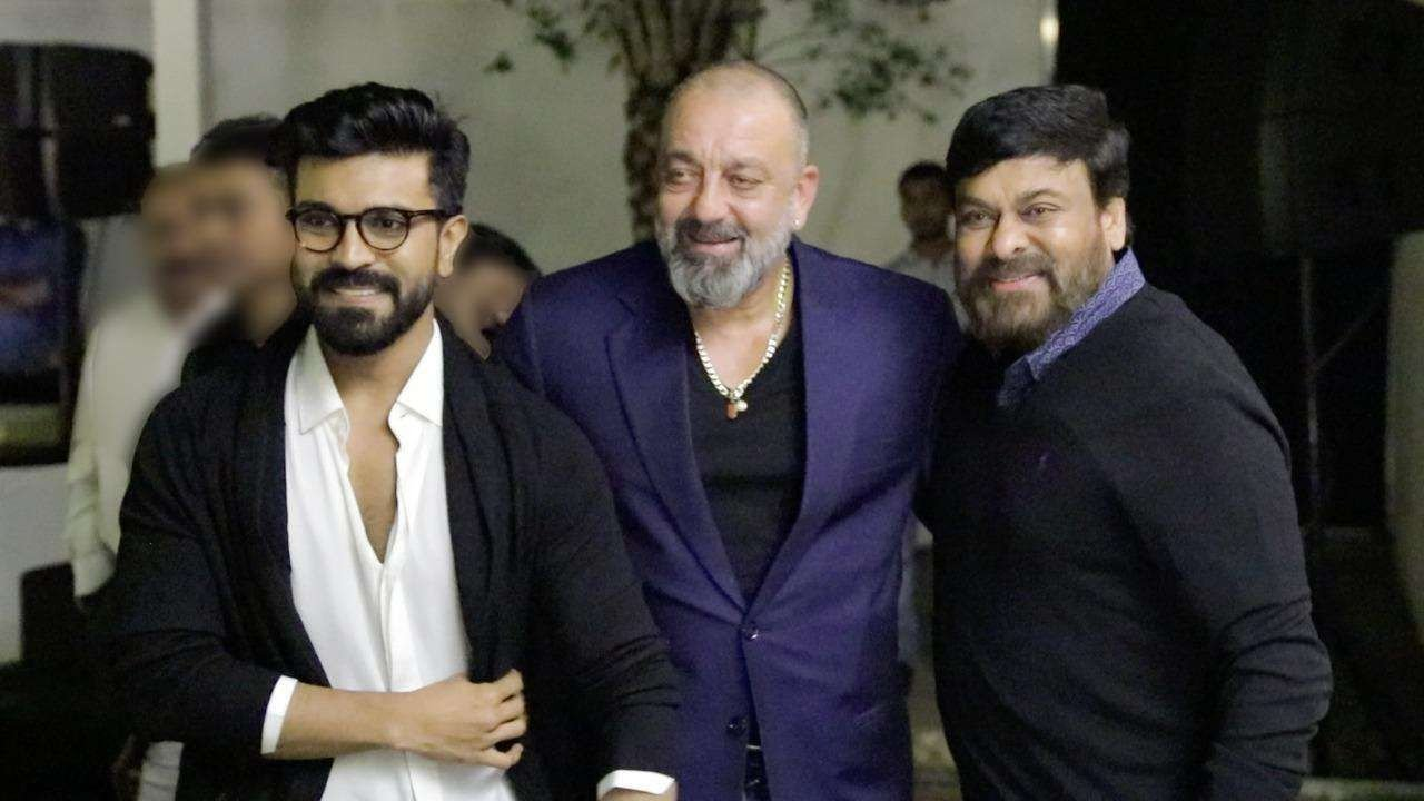 Sanjay Dutt bonds with Ram Charan and Chiranjeevi Photos