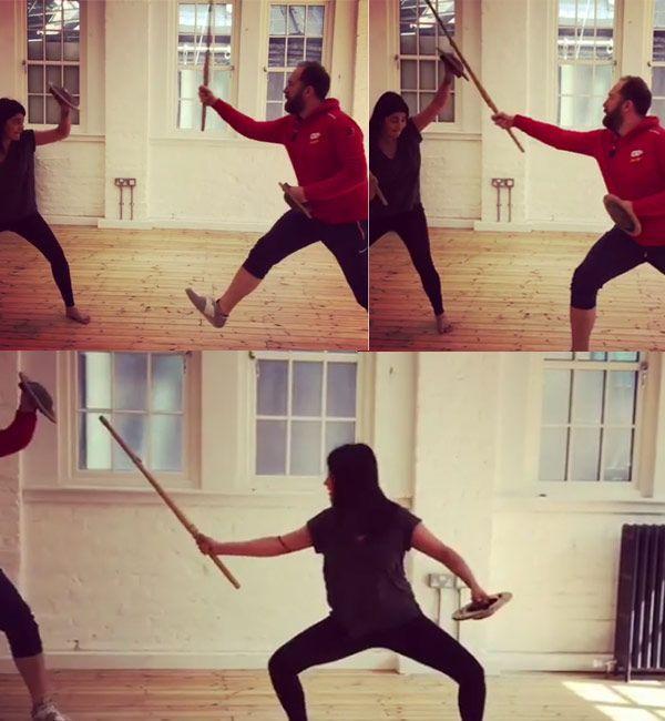 Shruti Haasan takes on sword fighting for Sangamithra
