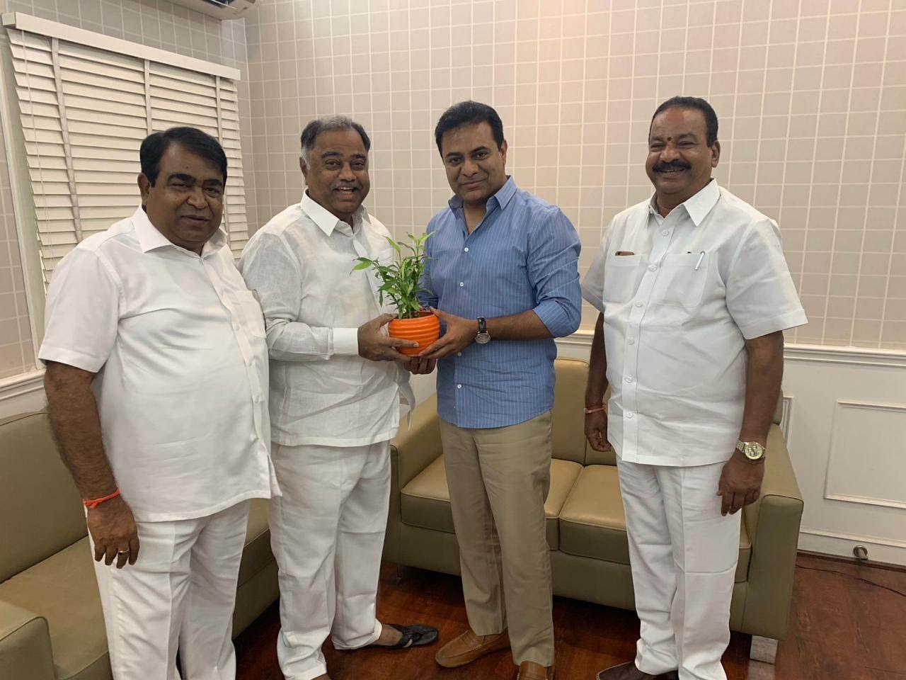 Telangana Congress MLA Upendar Reddy and KTR Photos