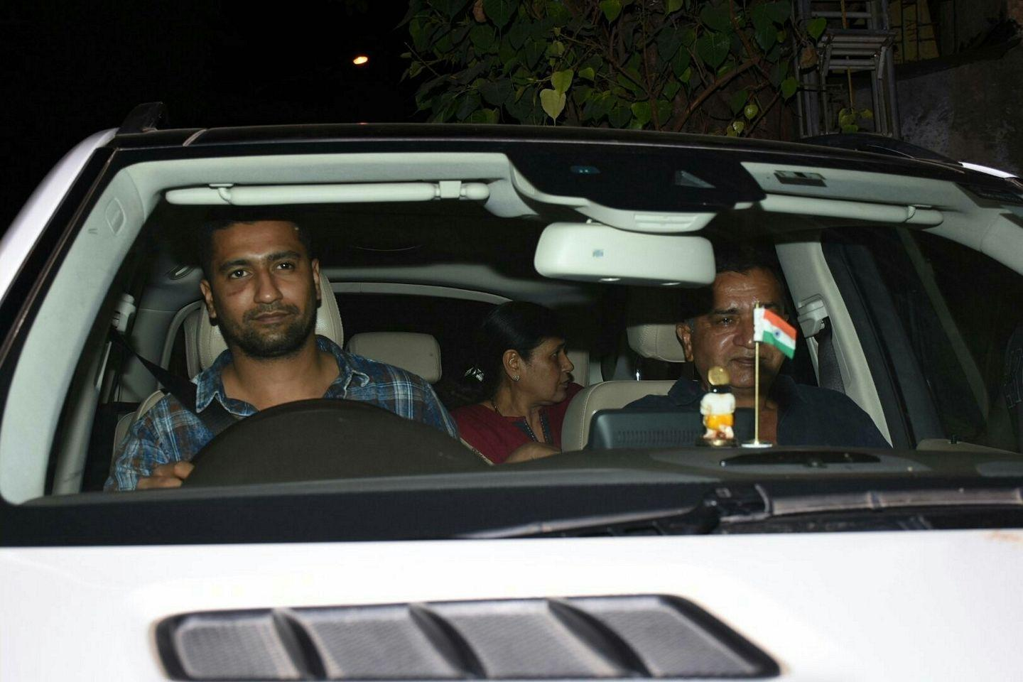 Vicky Kaushal spotted outside his Hotel