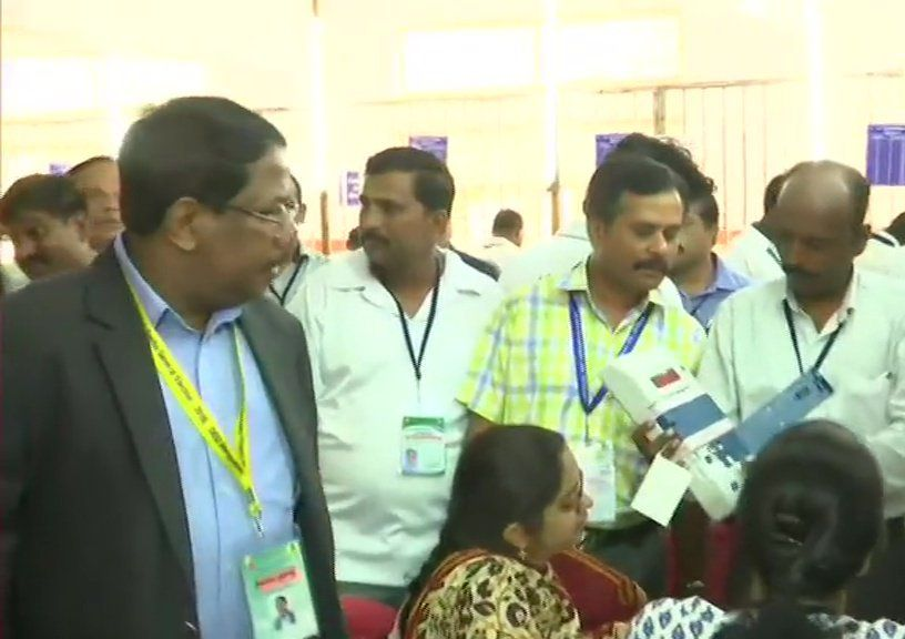 Vote Counting Begins in Mount Carmel College at Bengaluru