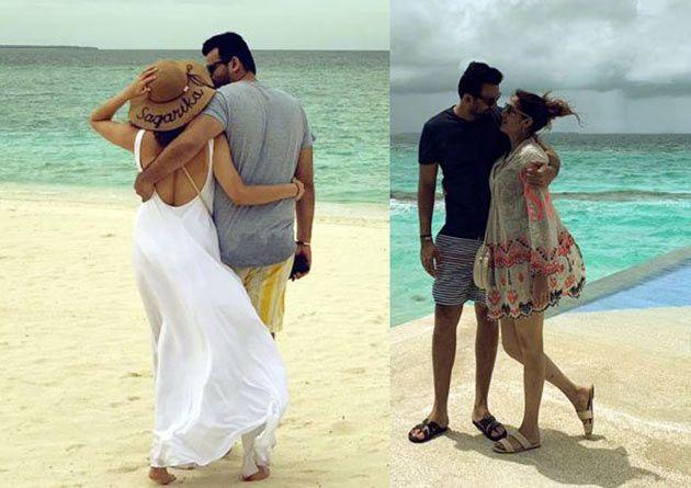 Yuvi, Zaheer, Nehra Families On Beach Vacation Photos