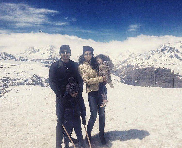 Allu Arjun with his family images