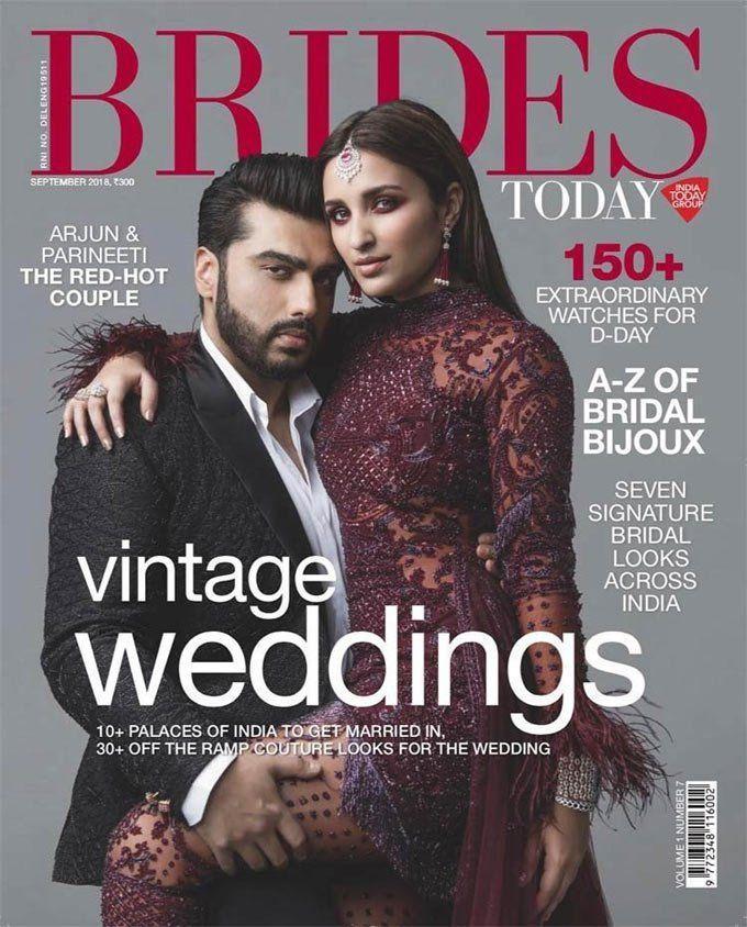 Arjun Kapoor & Parineeti Chopra pose for Brides Today Photoshoot Stills