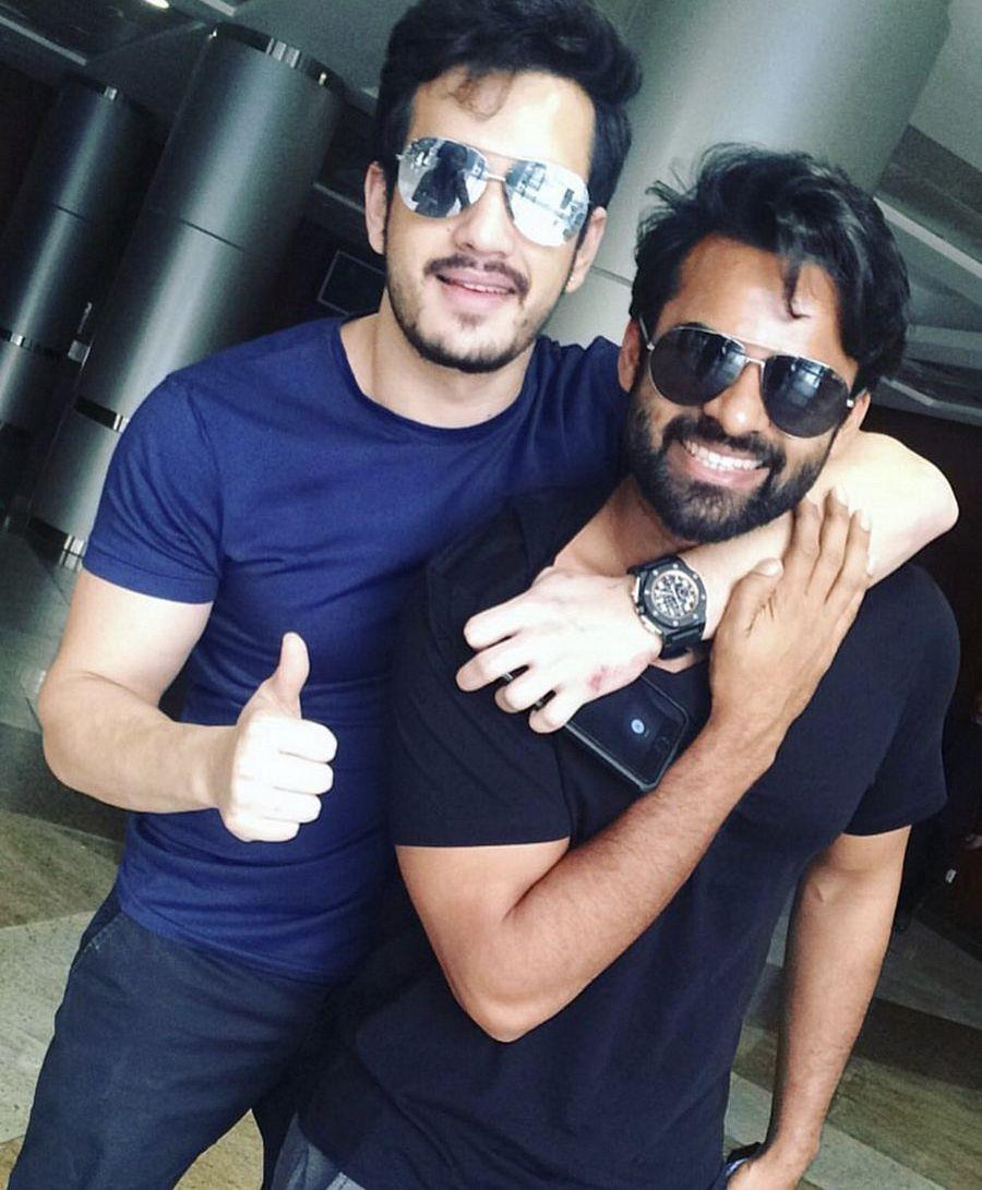 Wooo... Look whom Younger Akkineni has got...