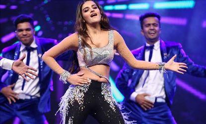 Actress Nidhhi Agerwal Hot Dance Stills From SIIMA Awards 2019 Set 1