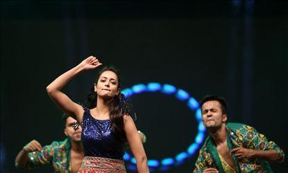 Actress Shanvi Srivastava Hot Dance Stills From Awards 2019 Set 2