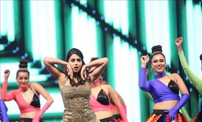 Actress Shriya Saran Hot Dance Stills From SIIMA Awards 2019 Set 3