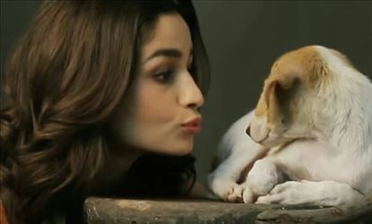Adorable Alia With Cute Puppy