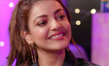 Cute Expressions Of Kajal Aggarwal During A TV Interview In Hindi Channel