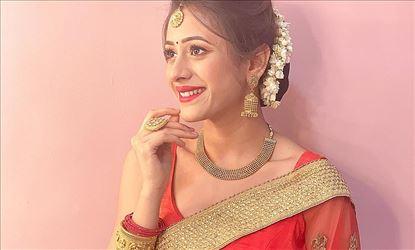 Hiba Nawab Hot Red Transparent Saree Stills