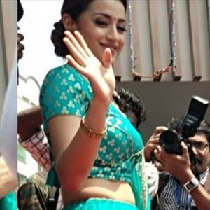 Photos: Trisha looks absolutely alluring in this blue outfit!
