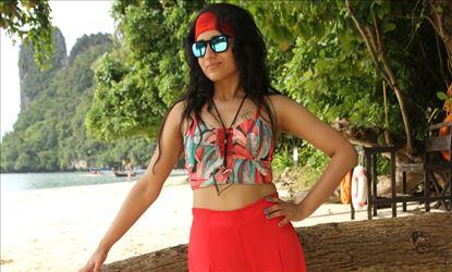 Trisha looking Red Hot in Beach