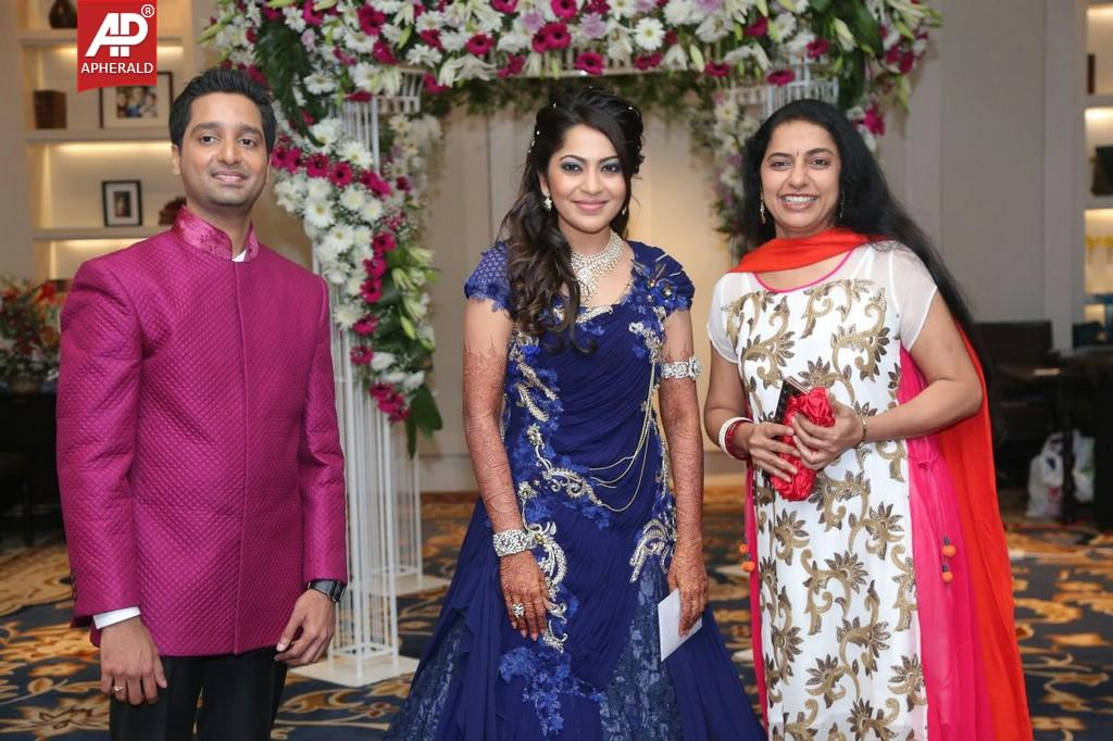 Anchor Ramya And Aparajith Wedding Reception