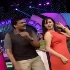 Chiru Dancing With Sada & Madushalini