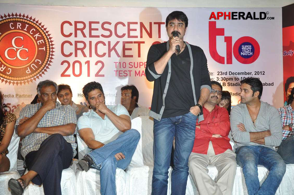 crescent cricket cup 2012 press meet invitation