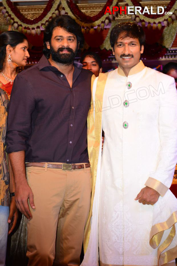 Gopichand Marriage Reception pics