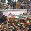 Karunanidhi's mortal remains being taken to Marina Beach