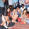 Srinivasa Kalyanam Movie Team at Vijayawada Durga Temple