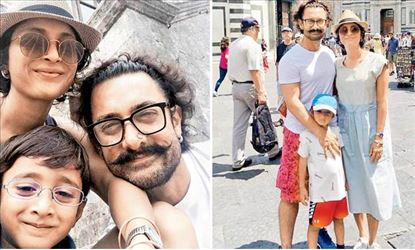 Aamir Khan has fun with his family at Italy