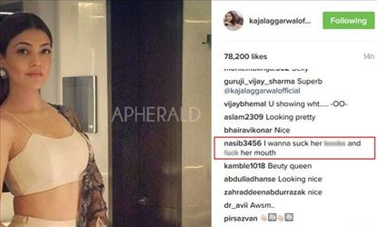 Kajal Aggarwal Instagram flooded with Sexual and Vulgar comments