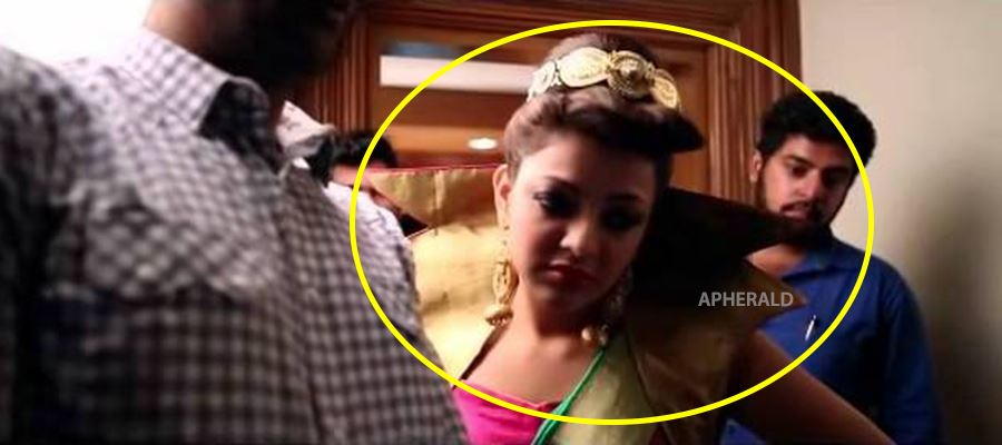 CAUGHT RED-HANDED: Kajal Aggarwal while shooting for B-Grade HOT movie...