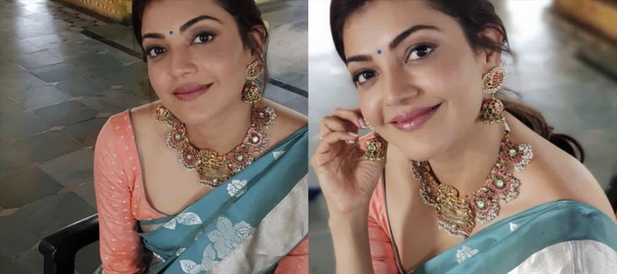 Kajal Aggarwal's Latest Photos in Saree and Blouse will make you tempted - View all Photos Inside!