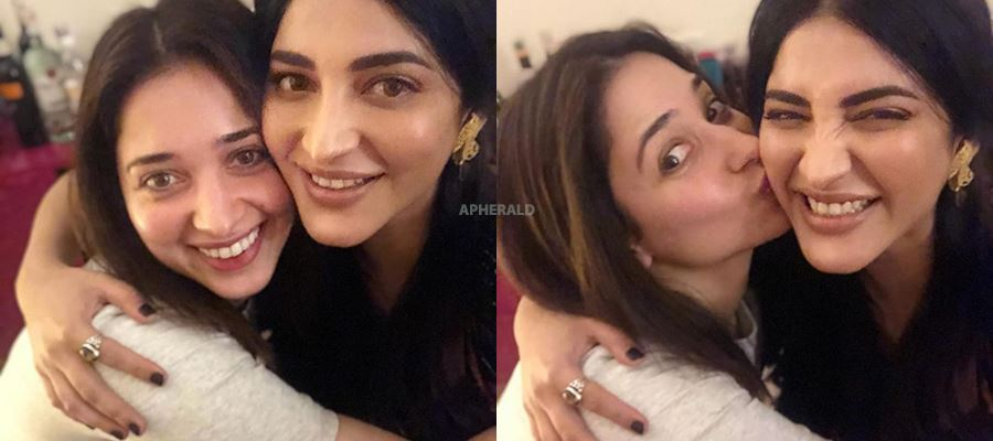 Tamanna and Shruti Haasan GETTING TOGETHER - PHOTO PROOF INSIDE