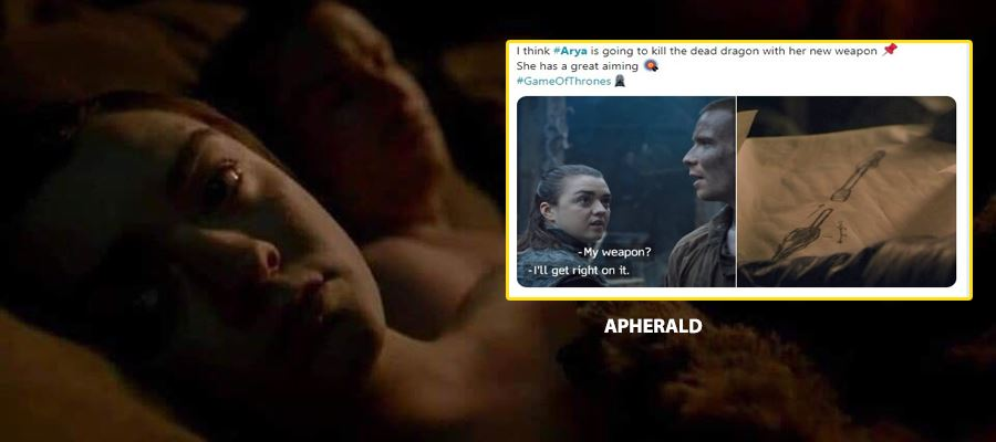 Arya Sex scene in GAME OF THRONES makes everyone uncomfortable - Check out these Funny Tweets