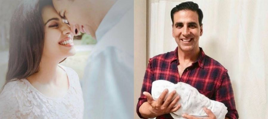 #AsinThottumkal gives birth to a Baby Girl - Akshay Kumar shows it to the World!