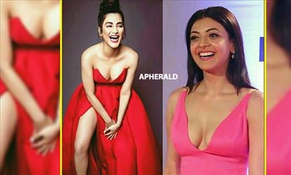 First Kajal Aggarwal, Now Shruti Haasan - EXPOSING DOWN BLOUSE CLEAVAGE shamelessly before Cameras