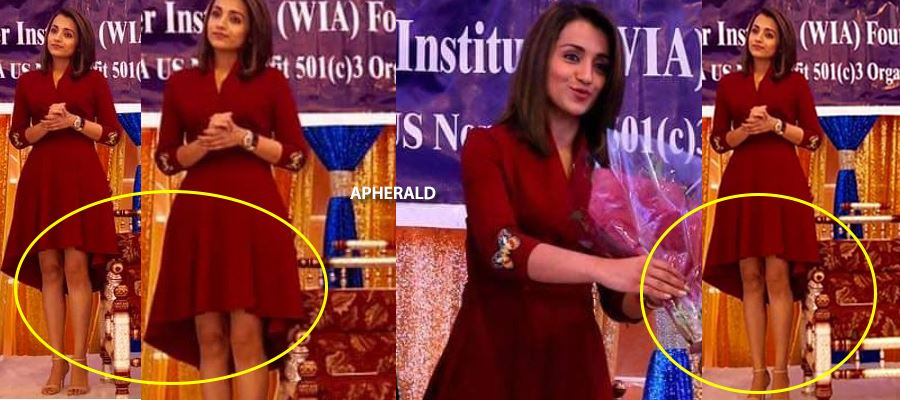 Oops! Trisha faces Embarrassing moment on the stage due to her short skirt - 31 Photos as a Hot Treat