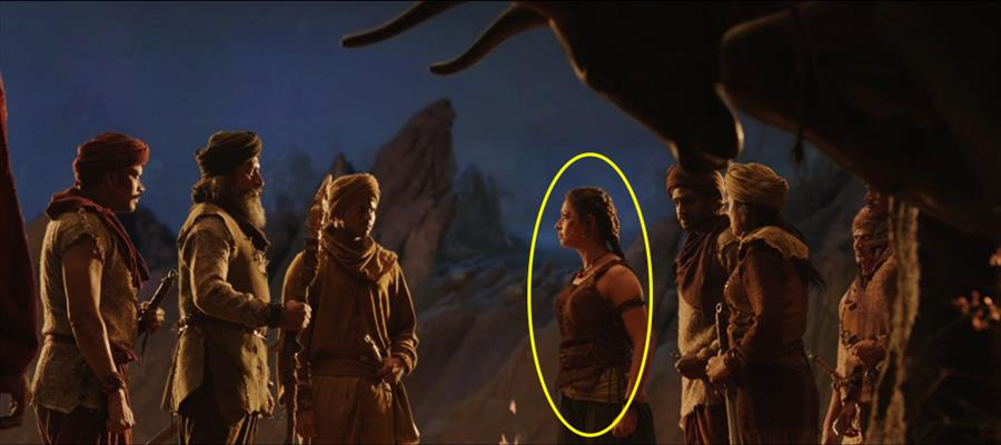 Have you SPOTTED BHALLALADEVA's WIFE ?? SEE THIS SCREEN CAPTURE !!!