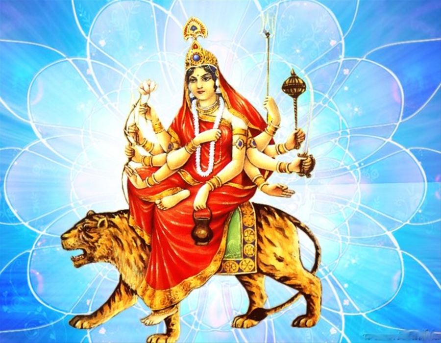 చంద్రఘంటా దేవిగా దుర్గాదేవి !