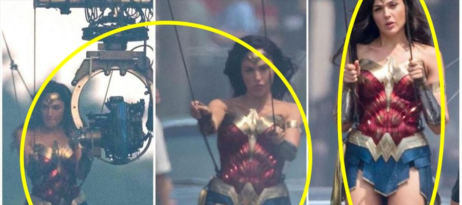 Gal Gadot from the Sets of 'Wonder Woman 2'