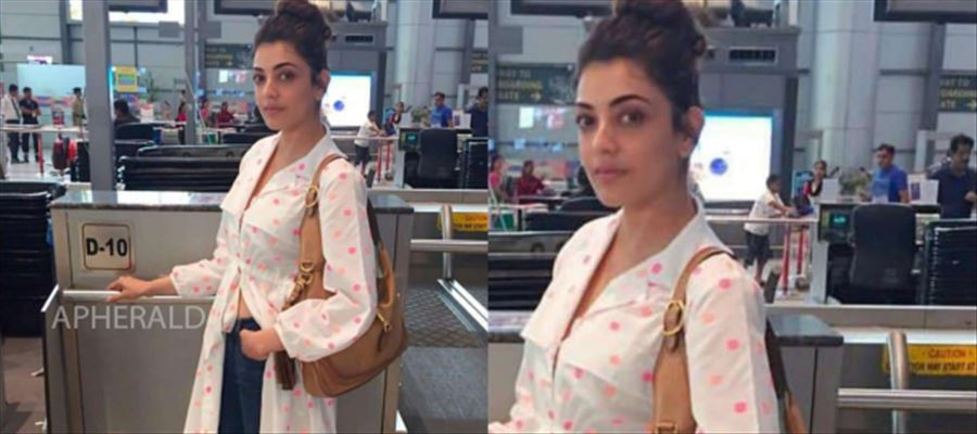 Kajal Aggarwal's Airport Look in a lose outfit - See Photo!