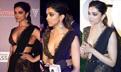 "27 HOT PHOTOS of Deepika in a Sexy Thin Strap Blouse and Saree - Breathtaking!</p> 		<div class=""pod-footer""> 			<time class="