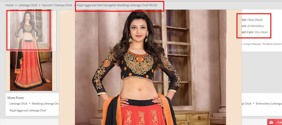Kajal's Wedding Lehenga is now for sale - See it inside!