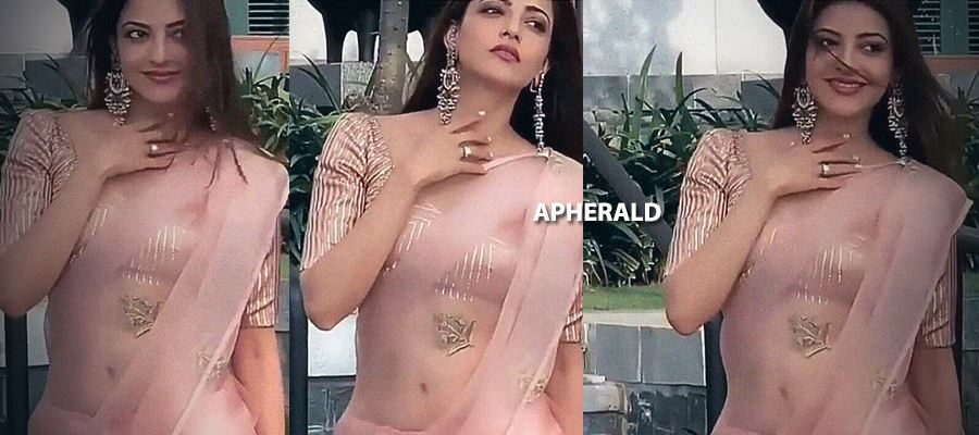 Kajal Aggarwal will tempt your mood in a Transparent Saree exposing her Hot waist and Navel - 16 Hot Photos Inside