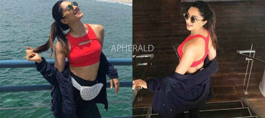 View Pics - Mahesh Babu's Girl Vasumathi enjoying in USA - Spotted in Red-Crop Top and Tights...!!!