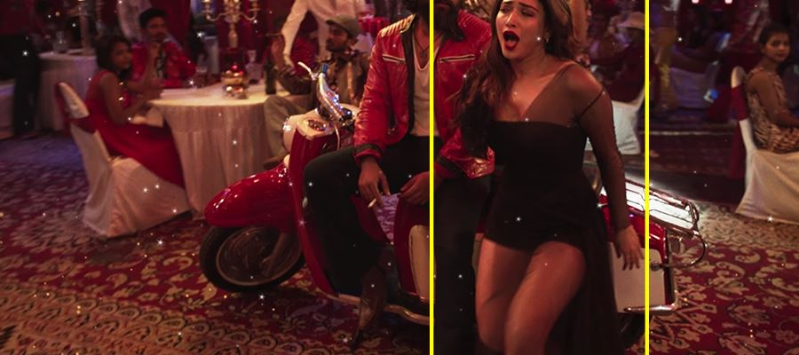 18 Hot Photos of Tamanna's Item song which exposes her Milky Thighs