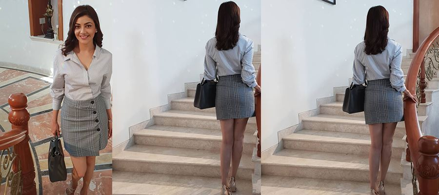 Kajal Aggarwal's 'BACK' Photo gets More LIKES and Vulgar comments from Fans - High Clarity HOT Photos Inside