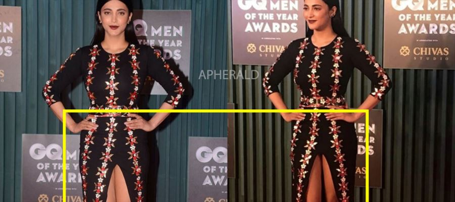 Why such a Opening at that place?... Netizens Troll Shruti Haasan for 'OPEN' dress - PHOTOS INSIDE