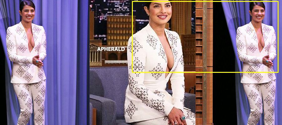 Oops! PRIYANKA CHOPRA accidentaly EXPOSES her INNER BEAUTY during a Talk Show in Hollywood - PHOTOS PROOF INSIDE