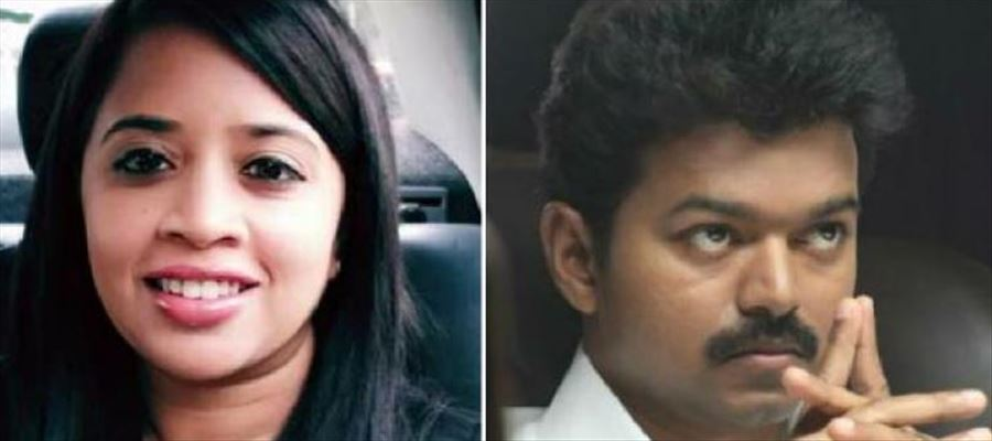 Vijay stops fans not to post anything that harms women regarding Dhanya Rajendran issue