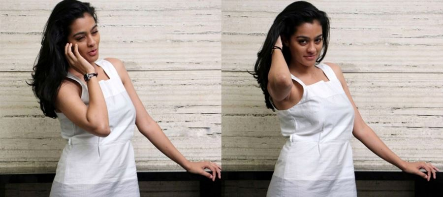 15 HD Photos of Gayatri Shankar in a White Sleeveless Dress