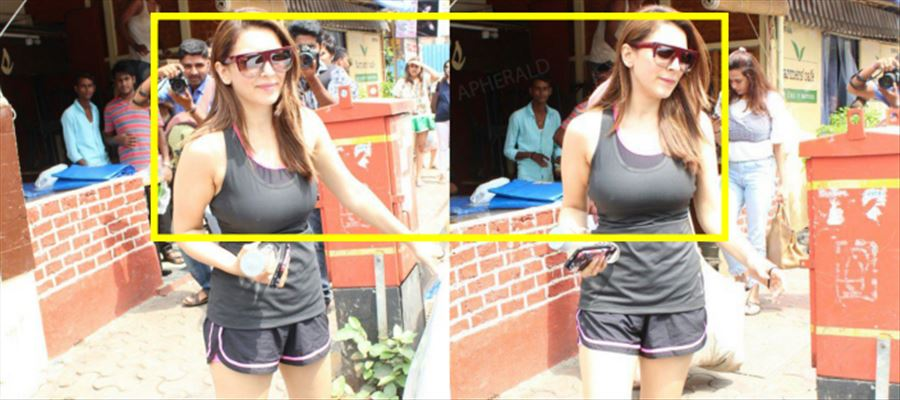 Hansika Spotted in Tight costume - Hot Photos Inside