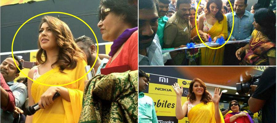 Fans create troubles for Hansika in Public - Photos Inside!